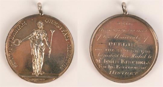 John Kinchela 1792 and 1795 silver medals to John Kinchela later Attorney