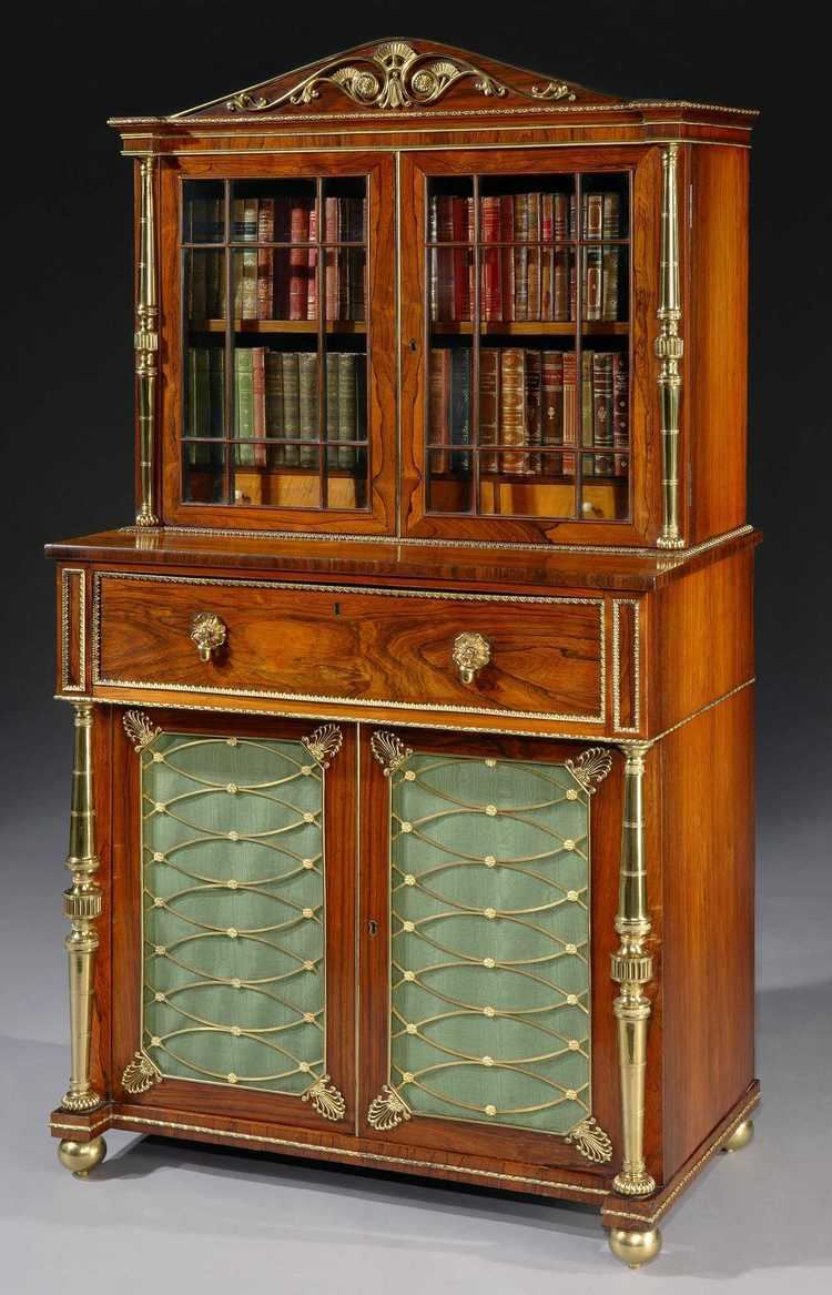 John McLean (furniture maker) John McLean A Regency Period Secretaire Bookcase Attributed to