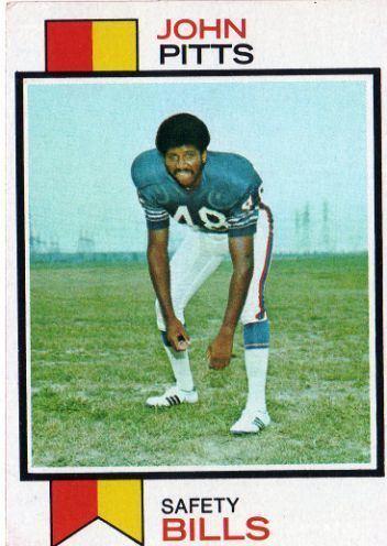 John Pitts (American football) BUFFALO BILLS John Pitts 178 TOPPS 1973 NFL American Football