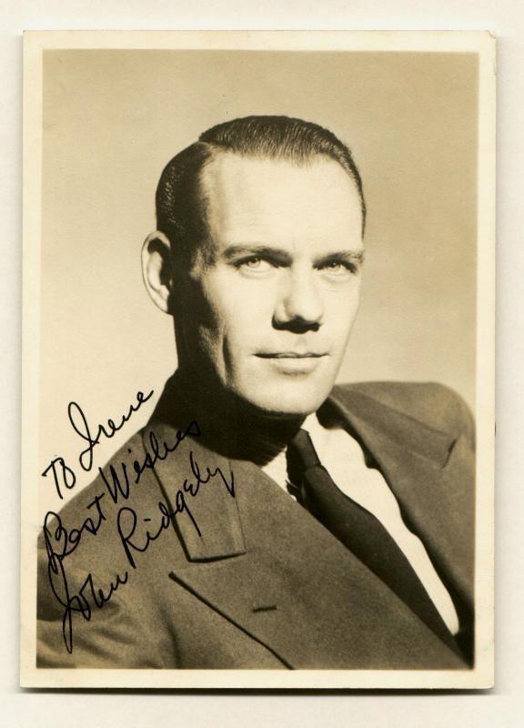 John Ridgely Clickautographs autographs John Ridgeley