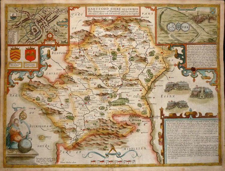 John Speed Hertfordshire Antique Maps Old Maps of Hertfordshire