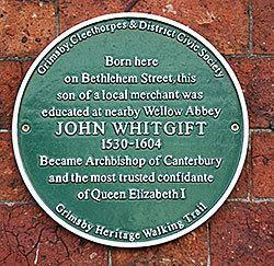 John Whitgift John Whitgift of Grimsby Archbishop of Canterbury Rod Collins
