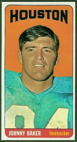 Johnny Baker (American football) wwwfootballcardgallerycom1965Topps67JohnnyB