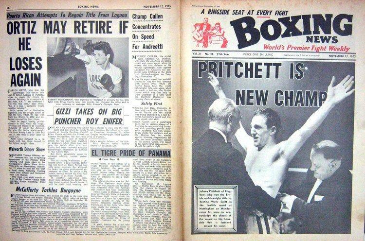 Johnny Pritchett 23 Print Boxing 1965 Johnny Pritchett Spears Swift Mcspadden