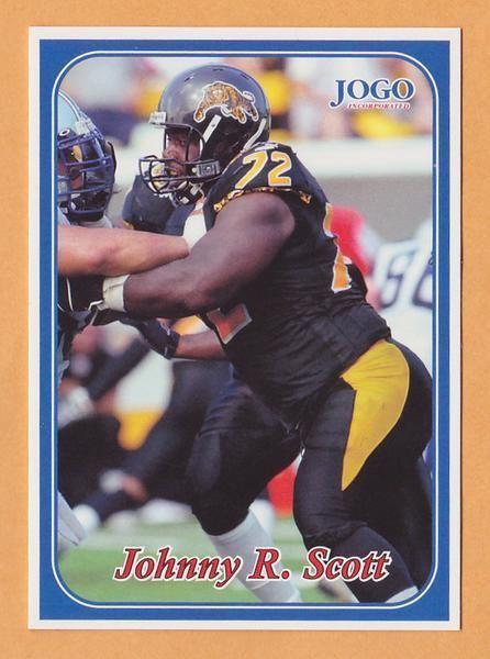 Johnny Scott (Canadian football) Johnny Scott CFL card 2003 Jogo 201 Hamilton TigerCats Johnston