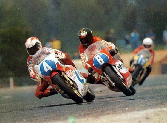 Jon Ekerold Bimota YB3 350 Johnny Cecotto and Jon Ekerold Motorbike Racer