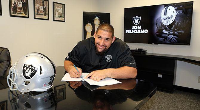 Jon Feliciano Oakland Raiders Jon Feliciano