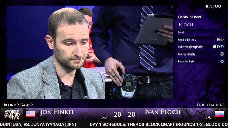 Jon Finkel Pro Tour Journey into Nyx Round 2 Draft Jon Finkel vs Ivan