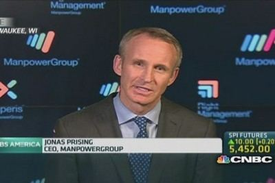 Jonas Prising Expect slightly above 200000 US jobs Pro