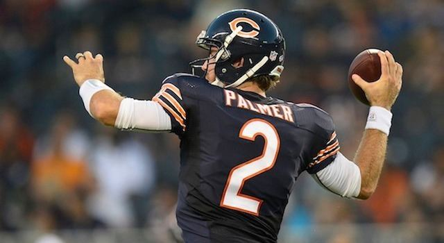 Jordan Palmer Report Bears to resign Jordan Palmer after Jay Cutler