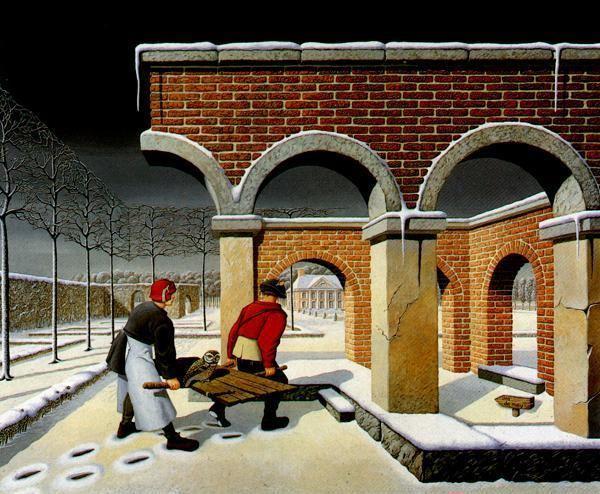 Jos De Mey Jos de Mey surrealistische schilderijen met onmogelijke