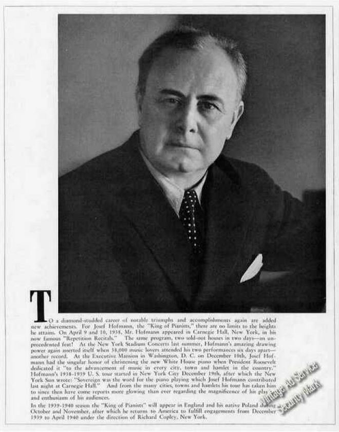 Josef Hofmann Vintage Music Advertisements of the 1930s Page 12