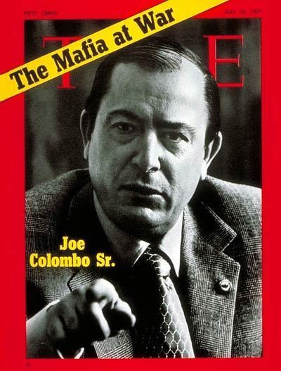 Joseph Colombo TIME Magazine Cover Joe Colombo Sr July 12 1971