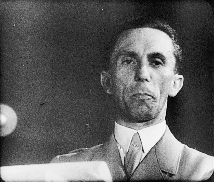 Joseph Goebbels 29th October 1940 Nazi propaganda chief controls German news