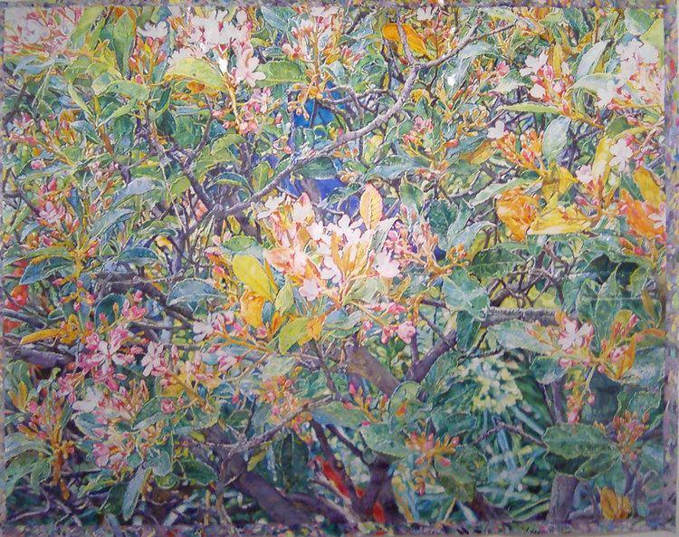 Joseph Raffael JosephRaffael April Movement 2012 watercolor