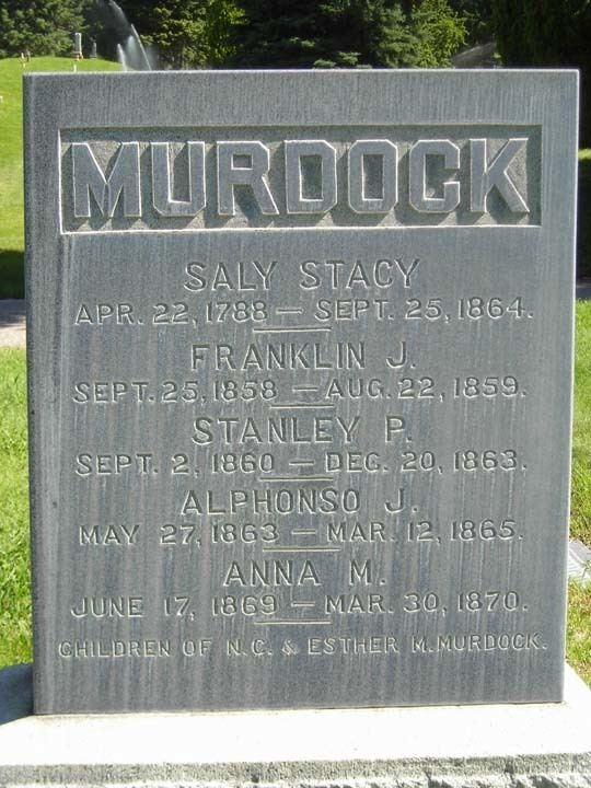 Joseph S. Murdock Sally Stacy Murdock 1788 1864 Find A Grave Memorial