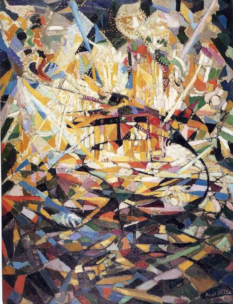 Joseph Stella Battle of Lights Coney Island Joseph Stella WikiArtorg