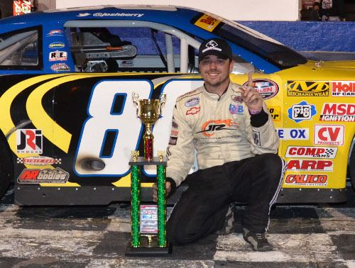 Josh Berry Josh Berry Finds Way To LM Victory Lane At Hickory