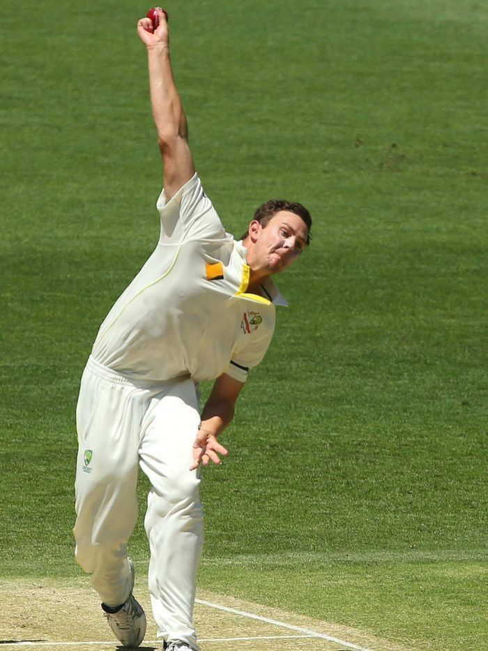 Josh Hazlewood bowling for Australia ABC News Australian