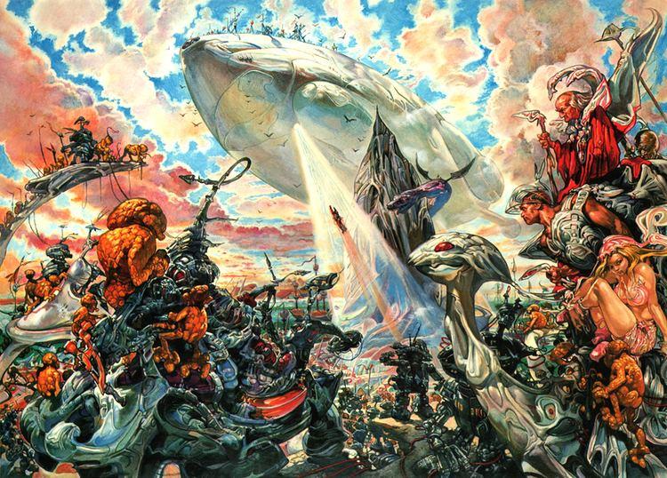 Josh Kirby MONSTER BRAINS Josh Kirby The Voyage Of The Ayeguy 1980
