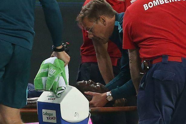 Josuha Guilavogui Wolfsburg star Josuha Guilavogui suffers broken neck but is staying