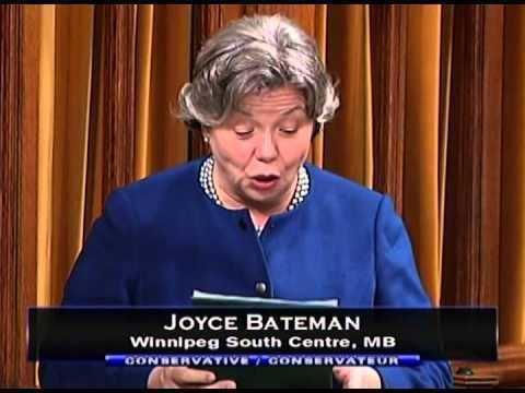 Joyce Bateman Statement by MP Joyce Bateman Keeping Canada Safe and Secure YouTube