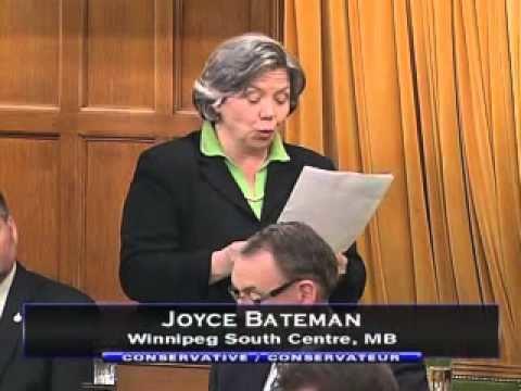 Joyce Bateman Parliamentary Address by MP Joyce Bateman on CanadaIsrael Hockey
