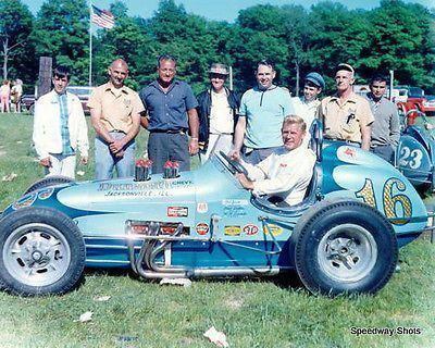Jud Larson Unique Jud Larson USAC 8x10 Photo Dirt track racers Pinterest