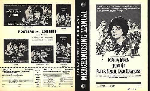 Judith (1966 film) Judith movie posters at movie poster warehouse moviepostercom