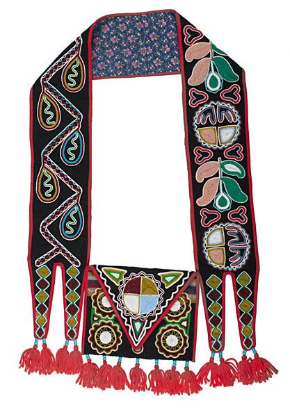 Judy Coser Judy Coser Creek Beaded Bandolier Bag From the Creek Council House