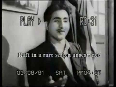 Mohd Rafi Acting In Film Jugnu 1947Woh Apni Yad Dilane Ko Ek