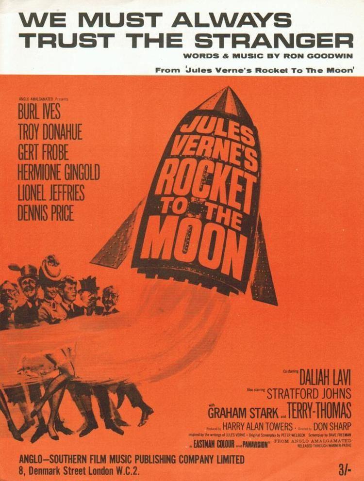 Jules Verne's Rocket to the Moon FSM Board NEW KRITZERLAND ROCKET TO THE MOON JOHN SCOTT