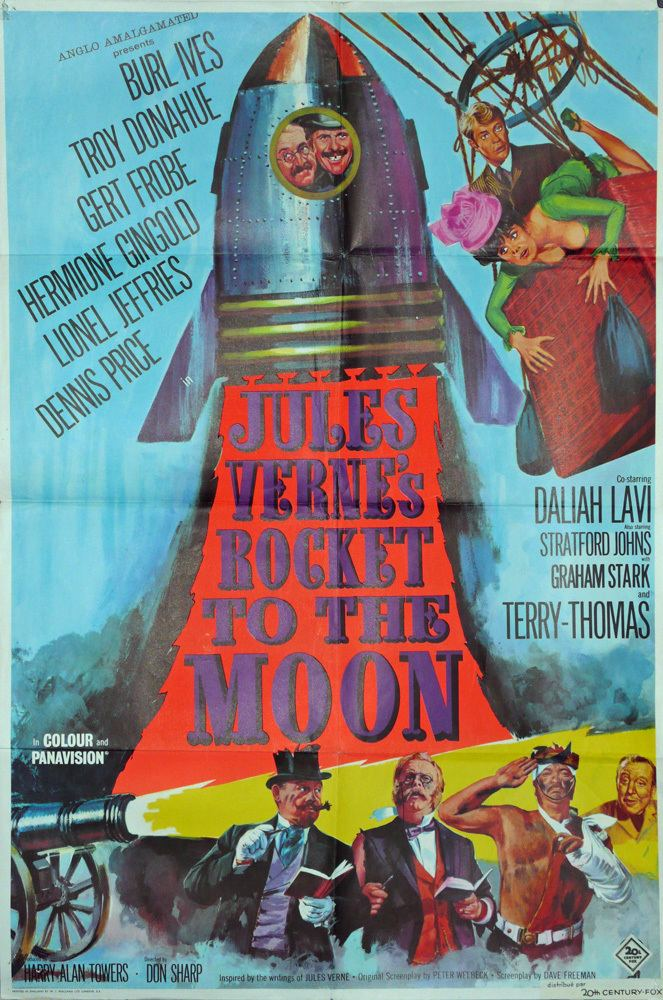 Jules Verne's Rocket to the Moon Jules Vernes Rocket to the Moon Original UK Movie Poster 1967