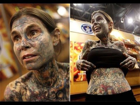 Julia Gnuse Meet The Most Tattooed Woman In The World Julia Gnuse