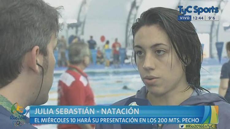 Julia Sebastian Julia Sebastin Verlo a Michael Phelps es una locura TyC Sports