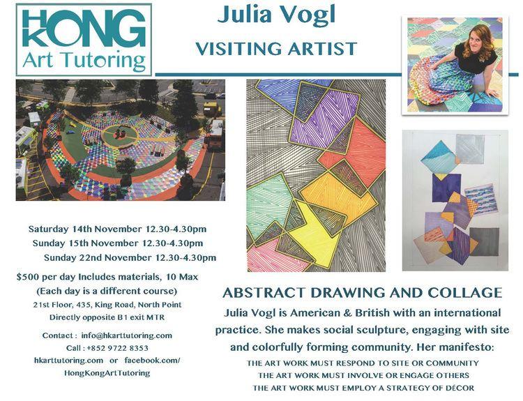 Julia Vogl Visiting Artist Julia Vogl Abstract Drawing Collage Workshop