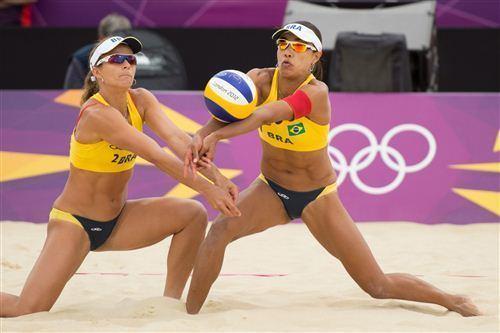 Juliana Silva Brazil39s Larissa Franca left and Juliana Silva Volleywood