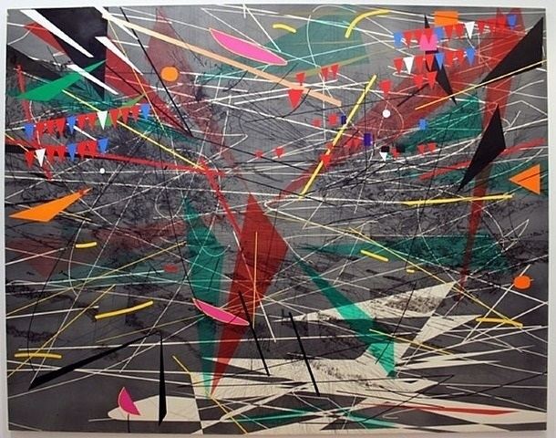Julie Mehretu Black Ground deep light by Julie Mehretu on artnet