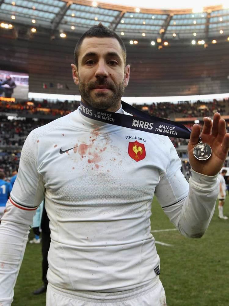 Julien Malzieu Julien Malzieu displays his man of the match award Rugby
