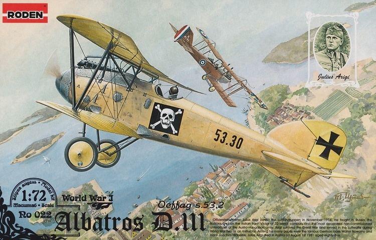 Julius Arigi Roden 172 Albatros DIII Oeffag s532 Julius Arigi