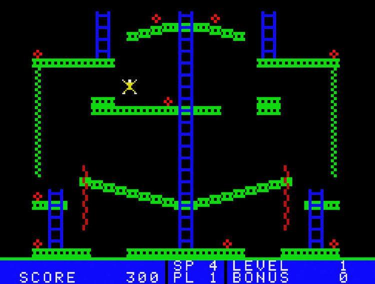 Jumpman Junior Game review Epyx39s Jumpman Junior for Colecovision coleco