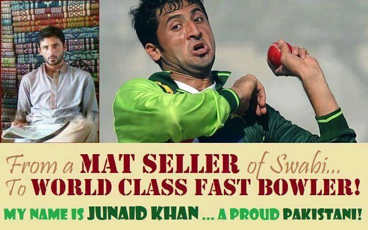 Junaid Khan (Cricketer) playing cricket