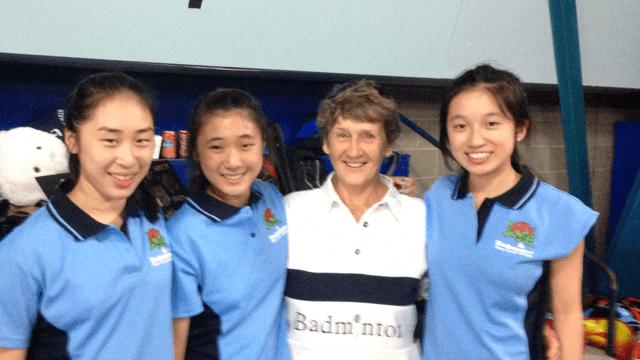 June Bevan Katrina Claudia Nicolle with June Bevan at U17 Austrailian