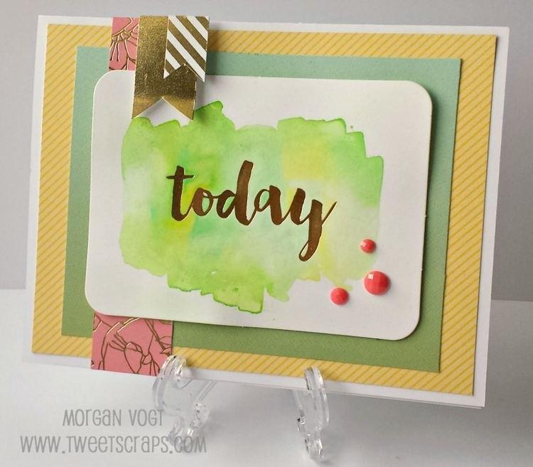 June Card TweetScraps June Card Workshop Happy Times with Watercolor PML Cards