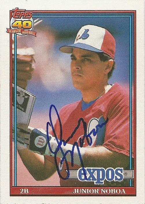 Junior Noboa Mets Autograph of the Week Junior Noboa Paul39s Random