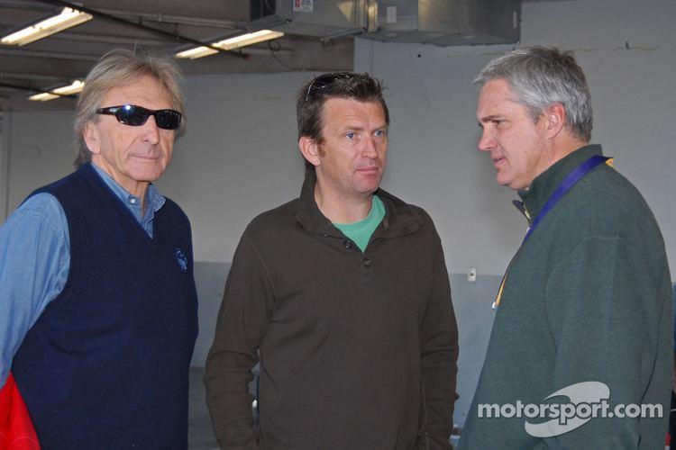 Justin Bell Derek Bell Justin Bell and Eddie Cheever at Test Days at Daytona