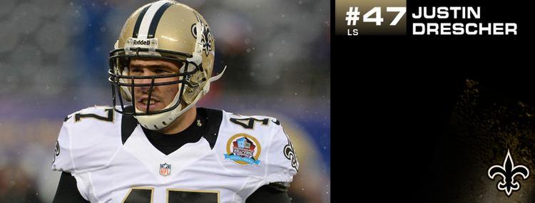 Justin Drescher New Orleans Saints Justin Drescher