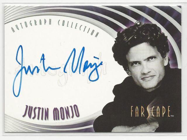 Justin Monjo Farscape Through The Wormhole Autograph Card A36 Justin Monjo eBay