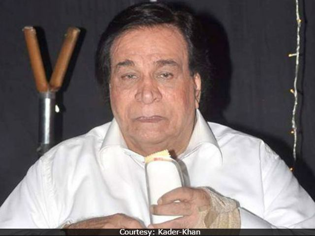 Kader Khan Kader Khan Latest Kader Khan News Photos Videos