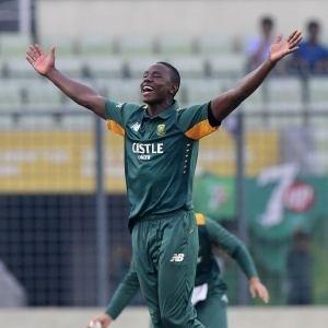 Kagiso Rabada Rabada takes debut hattrick SuperSport Cricket